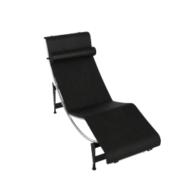 LC4 Chaise Lounge - Black Frame - Matteblk.Black