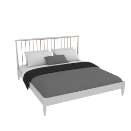 Lomond bedstead French grey, super king