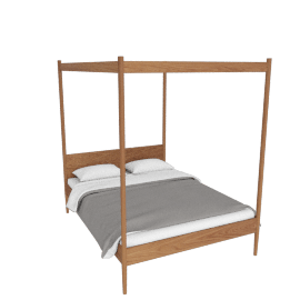 Canopy Cove Queen Bed , Walnut