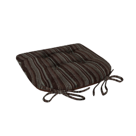 Veronica Chair Pad, Brown