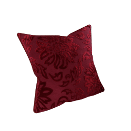 Devore Cushion Cover - 45x45 cms, Red