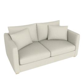 Baxter Medium Sofa, Brompton Natural