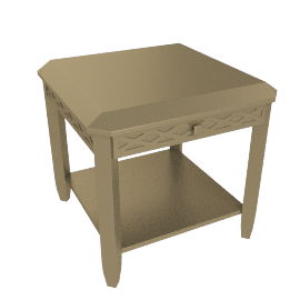 Amber End Table, Champagne Gold