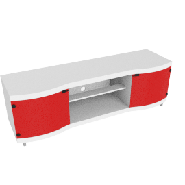 Tropical TV Unit, HG White/Red