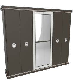 Dorian 6-Door Wardrobe