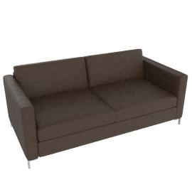 Maestro Leather Sofa, Chocolate