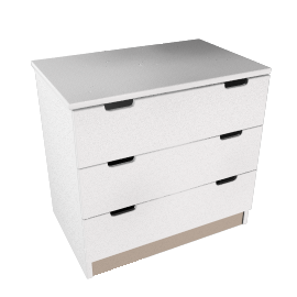 Pembroke Chest of Drawers, White