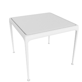 1966 Collection Porcelain Coffee Table, 18'' Square, White