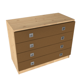 Riva 4 Drawer Wide Chest