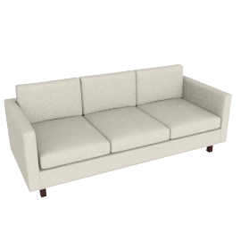 Goodland Sofa Walnut Leg, Basket Weave Wheat