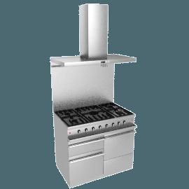 Westahl WG1052GECTSSAPK1 Dual Fuel Cooker, Hood and Splashback Package, Stainless Steel