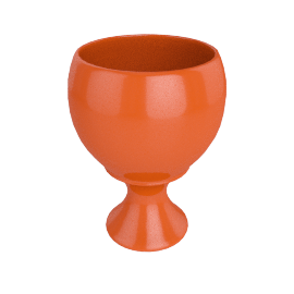 Rusa Planter Pot - 30.5x30.5x39.5 cms, Orange