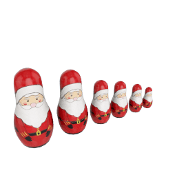 Father Christmas Matryoshka Russian Dolls, Set of 4