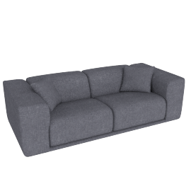 Kelston 95'' Sofa, Fabric: Pebble Weave Pumice