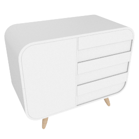 Esme compact sideboard, white