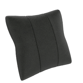 Maestro Leather Cushions, Pair, Black