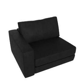 Reid One-Arm Chair in Leather, Left