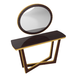 Hypnos Console With Mirror - Wenge/Gold