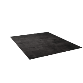 Patch Cowhide Rug - Black
