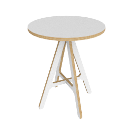 "ByALEX ""A"" Side Table, White"