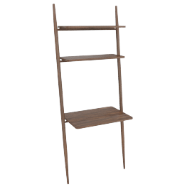 "Folk Ladder 32"" Desk Shelving, Walnut"