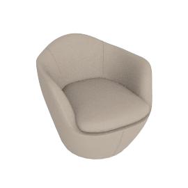 Lina Swivel Chair, Kalahari leather - Grey