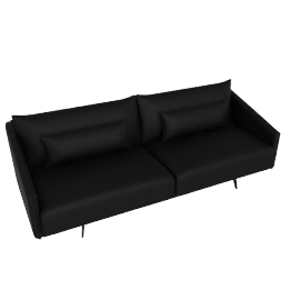 Costura Sofa, Elmo Baltique Leather - Black