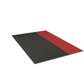Bold Rug 6x9, Charcoal Red