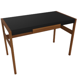Risom Desk, walnut.black