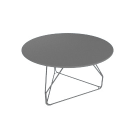 Polygon Wire Table - Medium, Graphite