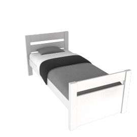 Stompa Uno Plus Bedstead, Single, White
