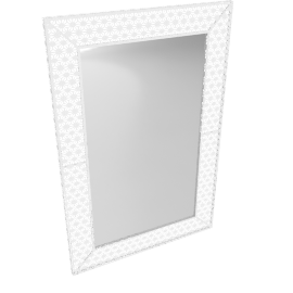 White Petal Wall Mirror