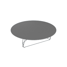 Polygon Wire Table - Large, Graphite