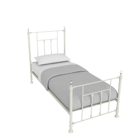 Alice 90x200 Metal Bed, Cream