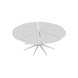 Petal Coffee Table, White