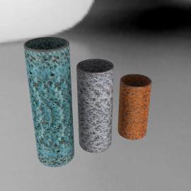 Volcanic Tube Vase Medium - White