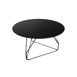 Polygon Wire Table - Medium, Black