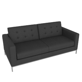 Odyssey Large Leather sofa, black
