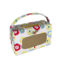 ROBERTS Revival DAB Digital Radio, Cath Kidston Electric Flowers Design