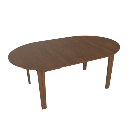 Gala Extension Table - Closed, Walnut