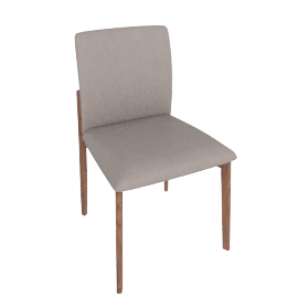 Contour Chair, Kalahari Leather Grey with Walnut Leg