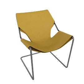 Paulistano Armchair in Canvas - Saffron.Stnls