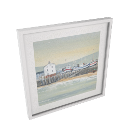 Anthony Waller - White Wash Bay Framed Print, 45 x 45cm