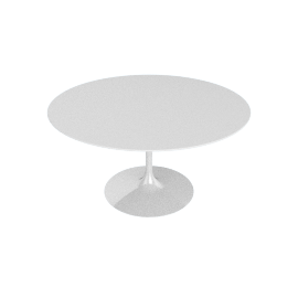 Saarinen Round Dining Table 54'', Laminate - White.White