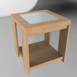 Strata Lamp Table, Oak