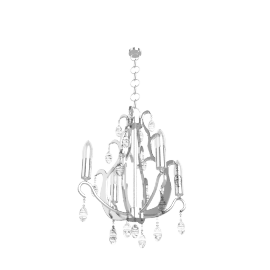 Jewel Chrome Chandelier, 4 Arm