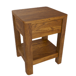 Seymour Side Table, Dark Stain