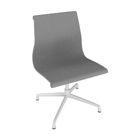 Outdoor Eames Aluminum Group Side Chair, White.White