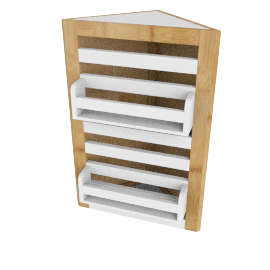 Brookline Corner Cabinet