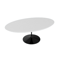 Saarinen Low Oval Coffee Table - Laminate - Black.White